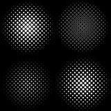 Halbton Feld a-Satz von 4 Halbtonrahmenmustern lizenzfreie abbildung