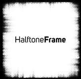 Halbton punktiert Rahmen Stockbild