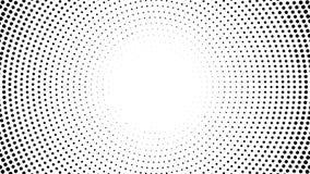 Halbton punktierter Hintergrund Halbtoneffektvektormuster Circ stock abbildung