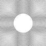 Halbton punktierter Hintergrund Kreis- verteilt Halbton-effe Lizenzfreie Stockfotos