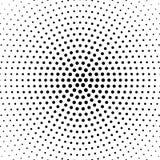 Halbton punktierter Hintergrund Kreis- verteilt halbtonbild Lizenzfreie Stockfotos