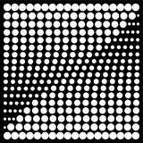 Halbtongestaltungselementquadrat stock abbildung