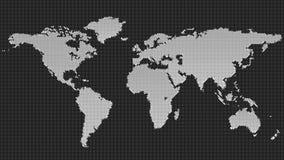 Halbtonkreismuster-Weltkartehintergrund Lizenzfreie Stockfotografie