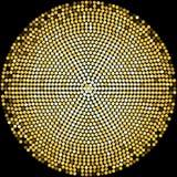 Halbtonmusterhintergrund der goldenen Discobälle Stockfotografie