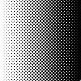 Halbtonpunkthintergründe der horizontalen Steigung Schwarze Flecke auf weißem Hintergrund Steigungspunkthintergrund Pop-Arten-Sch lizenzfreie abbildung