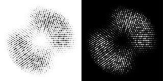 Halbtonpunktierter Hintergrundsatz des kreises Rahmen KREIS-Punktbeschaffenheit der runden Ikone Halbton Schmutzkreisfleck Vektor lizenzfreie stockfotos