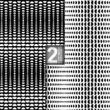 Halbtonvektor-nahtlose Muster, Satz von 2 Stockfotos