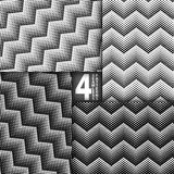 Halbtonvektor-Schwarz-weißer nahtloser Muster-Satz Lizenzfreie Stockfotos