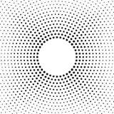 Halbtonvektor verzerrte Punkte Halbtoneffekt Hintergrundkonzept Vignettenbeschaffenheit Punkte lokalisiert auf dem weißen Hinterg Lizenzfreie Stockfotos