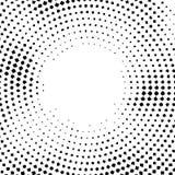 Halbtonvektor verzerrte Punkte Halbtoneffekt Hintergrundkonzept Vignettenbeschaffenheit Punkte lokalisiert auf weißem Hintergrund Stockfotos