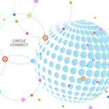 Halbtonvektordesign Zusammenfassung punktierte Kreisillustration Lizenzfreie Stockfotografie