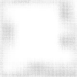 Halbtonvektorpunkte Halbtoneffekt Hintergrundkonzept Vignet Stockbild