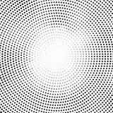 Halbtonvektorpunkte Halbtoneffekt Hintergrundkonzept Vignettenbeschaffenheit Kreispunkte lokalisiert auf dem weißen Hintergrund Stockfotos