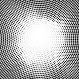 Halbtonvektorpunkte Halbtoneffekt Hintergrundkonzept Vignettenbeschaffenheit Kreispunkte lokalisiert auf dem weißen Hintergrund Stockfoto