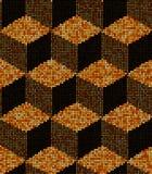 Halbtonwürfel, Vector nahtloses Muster Stockbilder