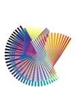 Halbtonwelle der abstrakten Retro- vektorpunkte. Lizenzfreie Stockfotos
