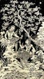 Halbvogelhalbfrauenbilder künstlerisch von der thailändischen Malerei u. vom litera lizenzfreies stockfoto