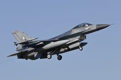 Halcón que lucha del RNLAF F-16AM Foto de archivo