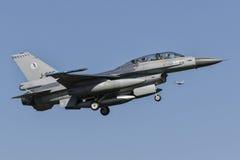 Halcón que lucha del RNLAF F-16BM Foto de archivo libre de regalías