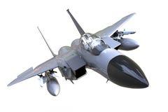 Halcón que lucha F-16 aislado y fondo Imagen de archivo libre de regalías