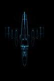Halcón transparente rendido F-16 de la radiografía azul libre illustration