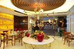 Haldecoratie in het luxehotel Royalty-vrije Stock Afbeelding