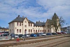 Halden Bahnhof. Stockbilder
