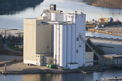 Halden grain silo and mill Royalty Free Stock Images