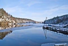 Halden watercourse. Beautiful and peaceful in the Halden watercourse by Brekke locks Stock Photography