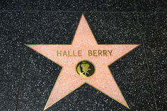 Hale Berry Star on the Hollywood Walk of Fame. HOLLYWOOD, CA/USA - APRIL 18, 2015: Hale Berry star on the Hollywood Walk of Fame. The Hollywood Walk of Fame is Royalty Free Stock Photos