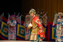 "Hale and hearty old Marshal- Beijing Opera"" Women Generals of Yang Family"" Stock Photo"
