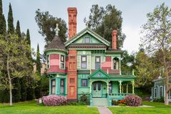 Hale House in Los Angeles California. Hale House in Los Angeles, California, USA. It is a Queen Anne style Victorian mansion built in 1887 in the Highland Park Royalty Free Stock Image