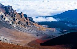 Haleakalā Nationaal Park, Eiland Maui, Hawaï royalty-vrije stock foto