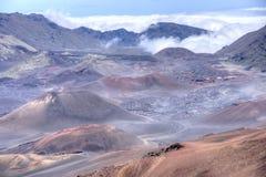 HaleakalÄ- Landschaft in Maui, Hawaii stockfotos