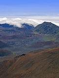haleakala山顶火山 免版税库存图片
