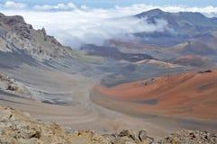Haleakala火山口,毛伊(夏威夷) 库存图片