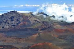 Haleakala火山口 库存照片