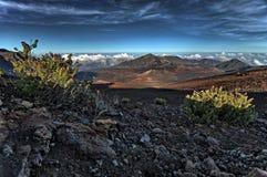 Haleakala火山口 免版税库存图片