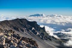 Haleakala火山的破火山口,毛伊,夏威夷 免版税库存图片