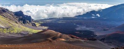 Haleakala,毛伊,夏威夷炭渣锥体  免版税库存图片