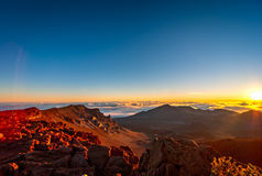 Haleakala -毛伊,夏威夷 库存照片