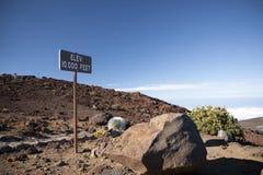 Haleakala berg Arkivfoto