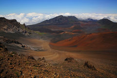 Haleakala Caldera royaltyfria foton