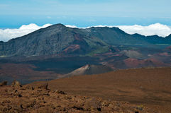 Haleakala crater and clouds beneath. Royalty Free Stock Photography