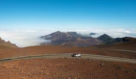 Haleakala crater kauai hawaii Stock Image