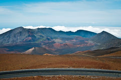 Haleakala crater in Maui Stock Images