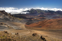 Haleakala Crater - Maui, Hawaii. This image shows Haleakala Crater  on the island of Maui, Hawaii Royalty Free Stock Images
