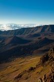Haleakala Crater, Maui, Hawaii. Dramatic view of cinder cones in Haleakala Crater on Maui, Hawaii stock photos