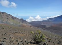 Haleakala Crater on Maui stock photo