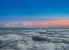 Sunset at Haleakala National Park, Maui, Hawaii Royalty Free Stock Photography